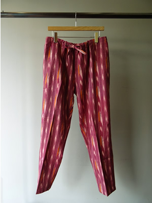 SOUTH 2 WEST 8(サウスツーウエストエイト) STRING SLACK PANT - IKAT PATTERN