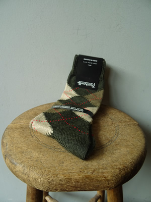 PANTHERELLA(パンセレラ)ARGYLE WOOL SOX