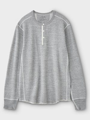 PHIGVEL(フィグベル) THERMAL HENLEY TOP