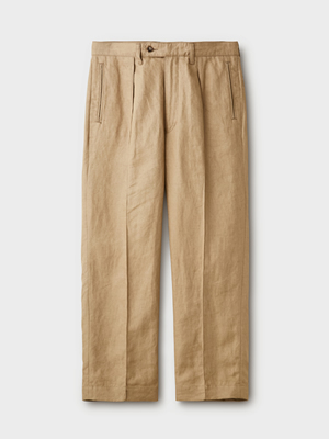 PHIGVEL(フィグベル) LINEN PIN TUCK TROUSERS